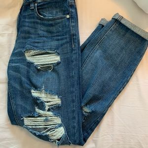 garage mom ripped jeans
